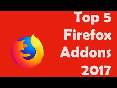 Top 5 firefox addons 2017