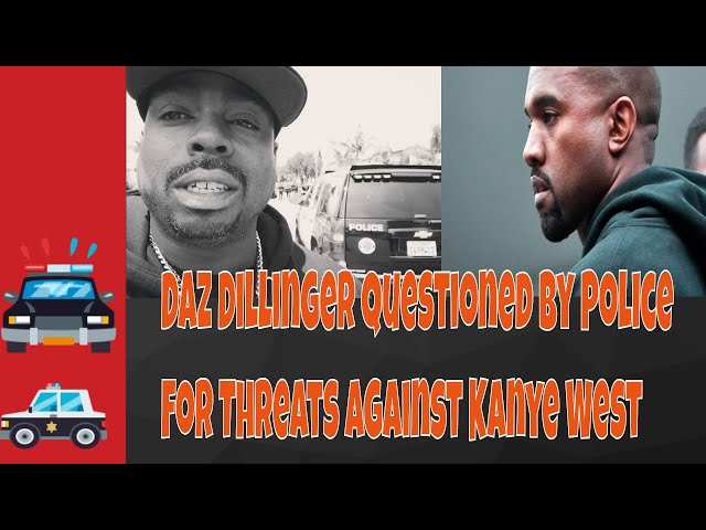 Daz Questioned By Police Over Kanye West Threats