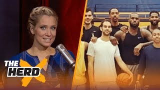 LeBron James is back at camp with his new teammates - Kristine and Colin react |  THE HERD