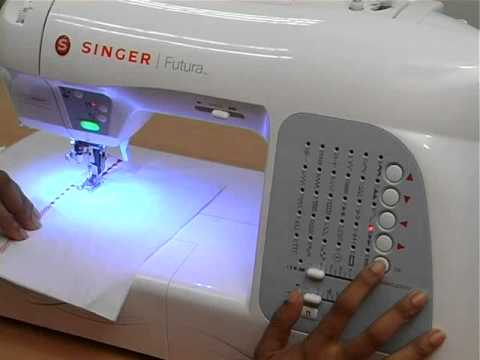 Singer Futura XL40 Sewing Embroidery Machine Training Part40 Delectable Singer Sewing Machine Embroidery