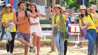 Khmer New Year , Sangkran Siem Reap, Learn to Dance Khmer Song