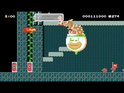 Crazy Boss Fights by olson2007 ~ NEW WORLD RECORD SPEEDRUN! - SUPER MARIO MAKER - No Commentary 一