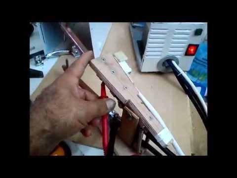 ηλεκτροπόντα χειρός  // handmade spot welder