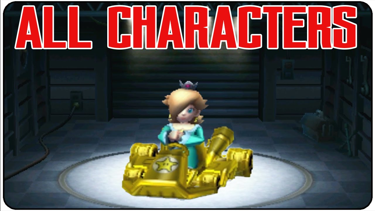 Mario Kart 7 All Characters Youtube