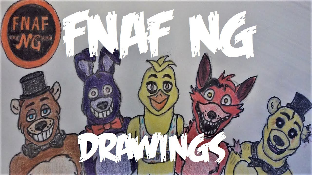 Fnaf 2 Drawings fnaf ng drawings - fnaf 1 & fnaf 2 characters