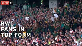 Bok and Brave Blossom fans are good sports at RWC19