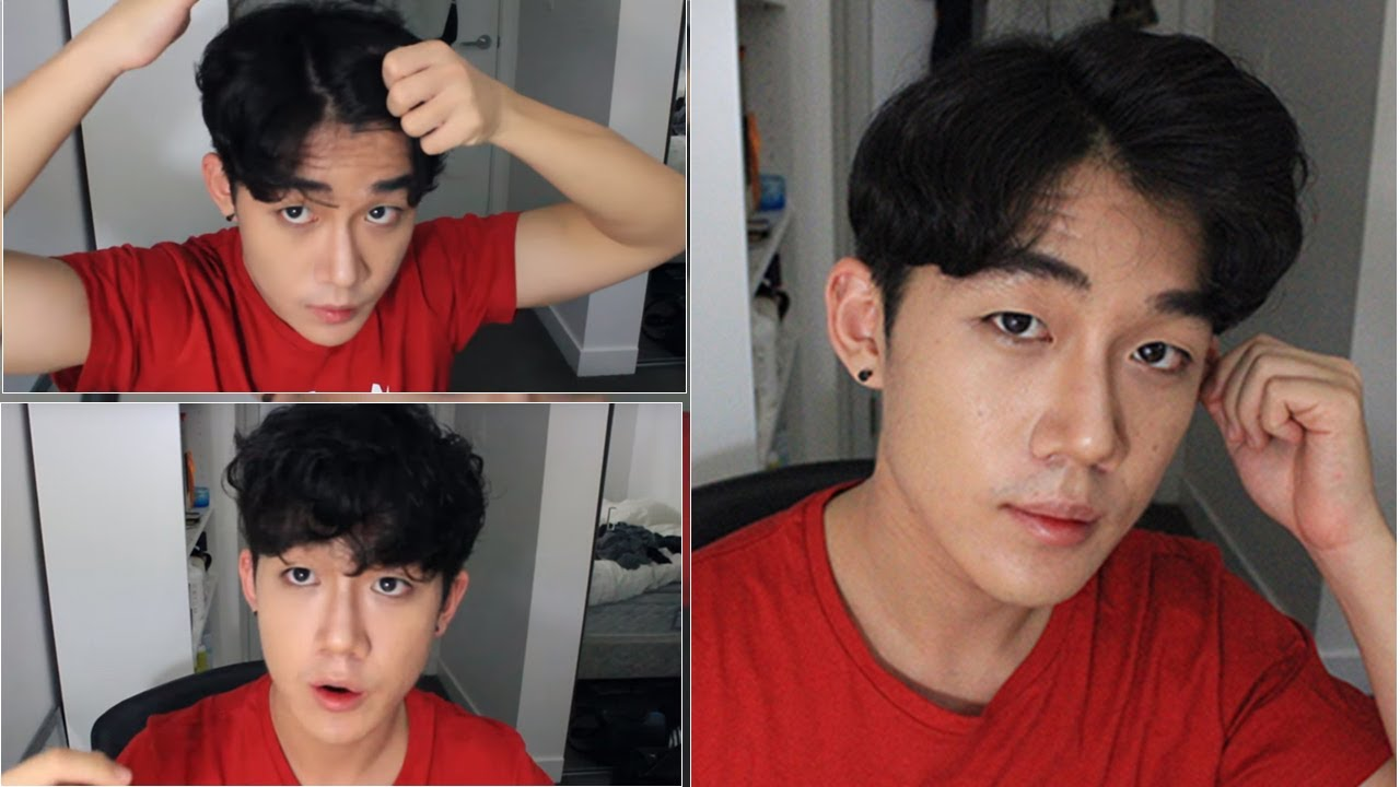 Korean Wavy Hairstyle Tutorial For Men 남자 가르마 머리 스타일링