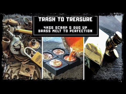 Trash To Treasure - Dug up Metals & Scrap Turned into Huge 3 Kilo Bar & Coins