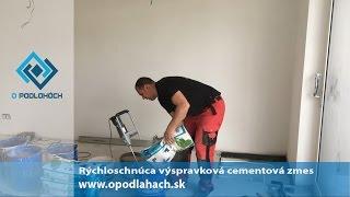 Rýchloschnúca výspravková cementová zmes na podlahy | opodlahach.sk