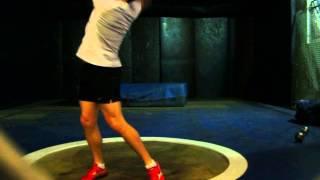 20 March 2009 - 7.26kg Training Throw #2