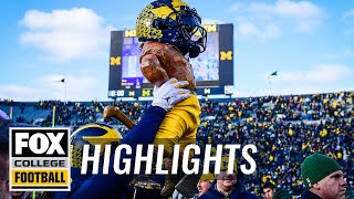 Michigan dominates Michigan State 44-10 behind Shea Patterson's 4 TDs | HIGHLIGHTS | CFB ON FOX