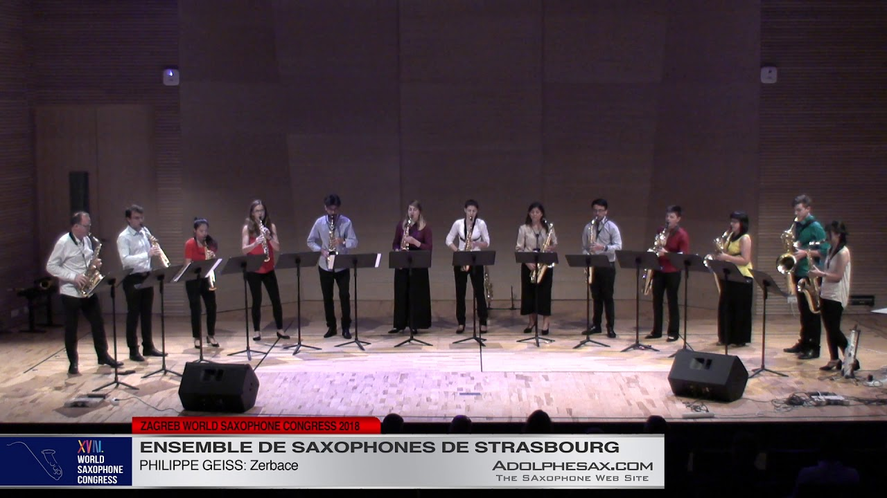 Zerbace by Philippe Geiss   Ensemble de Saxophones de Strasbourg   XVIII World Sax Congress 2018 #ad