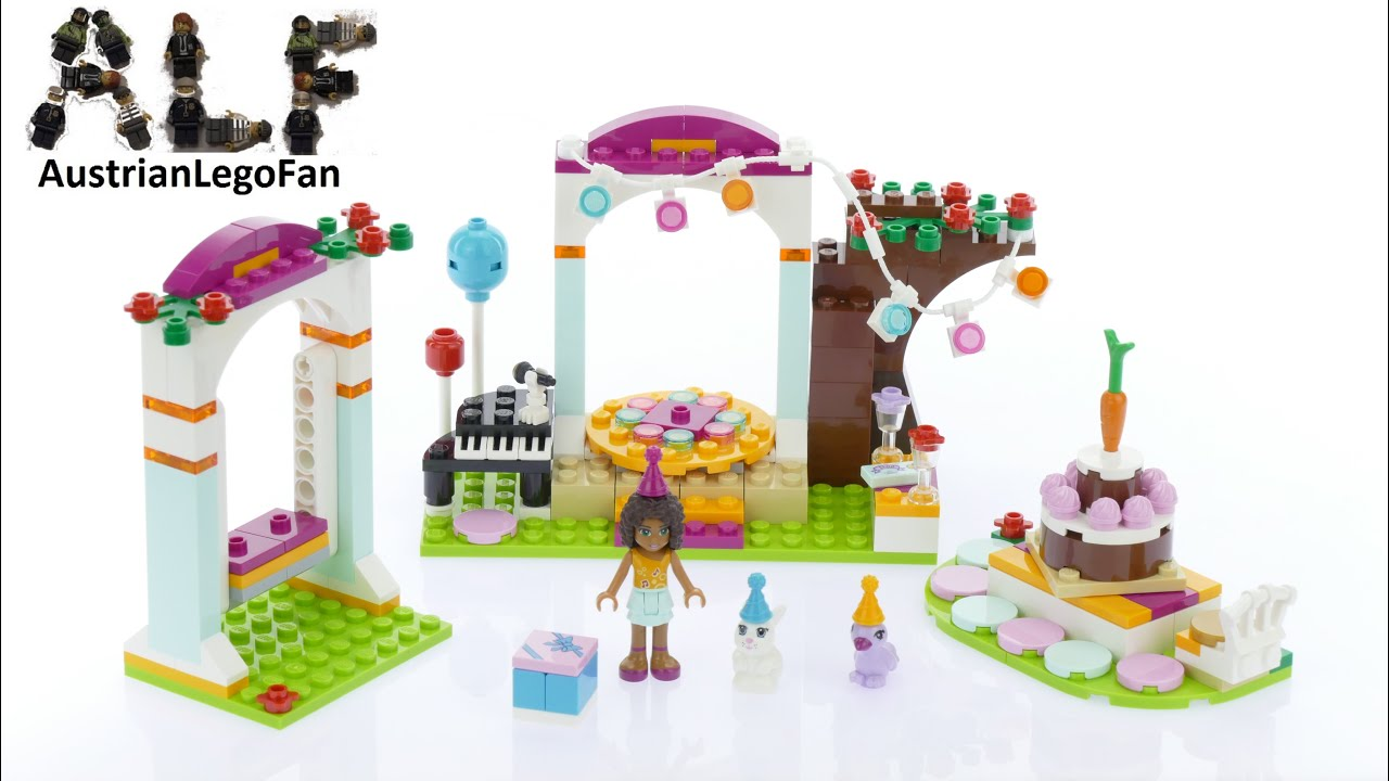 Lego Friends 41110 Birthday Party - Lego Speed Build Review - YouTube