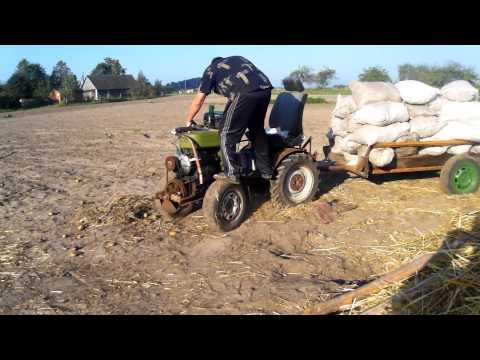 Трактор-перевозка картошки. Hemmagjord traktor