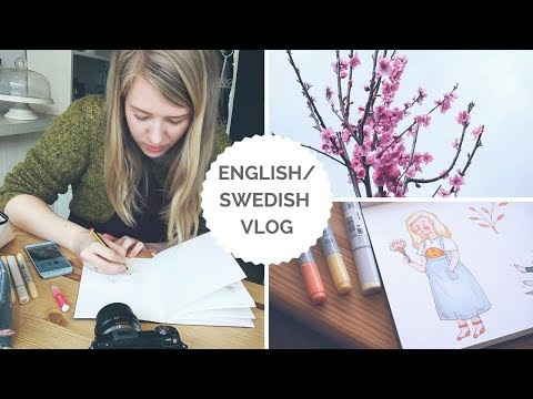 EASTER, CATCH UP + ILLUSTRATION RAMBLE 🐰 Swedish/ English Vlog 🐰