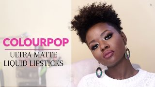 ColourPop Ultra Matte Liquid Lipsticks Review + Swatches on Dark Skin #thepaintedlipsproject