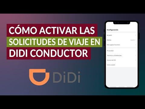 Cómo Activar o Desactivar las Solicitudes de Viaje en la App DIDI Conductor