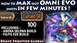Max Out Omni Evolution Units In Few Minutes (Feat. Selena & Eze's Build)(Brave Frontier Global)