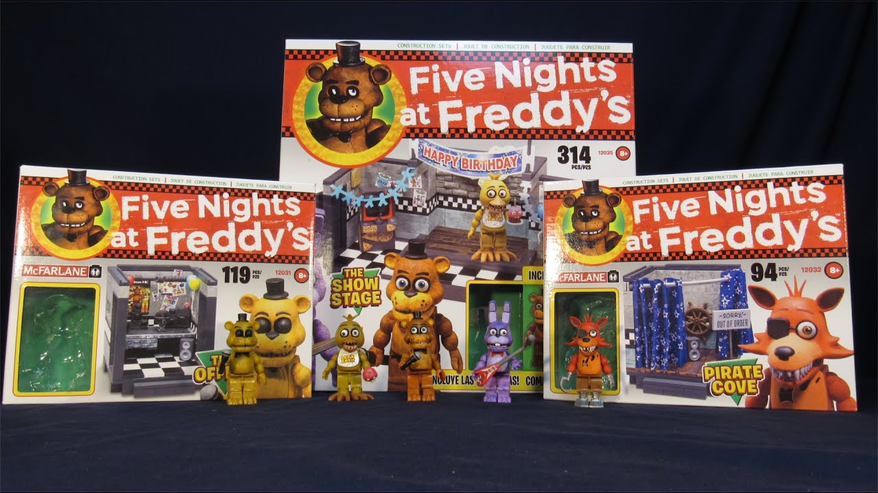 More five nights at freddy s construction sets coming soon - Mcfarlane Five Nights At Freddy S Construction Set Unboxing Pirate Cove The Show Stage The Office