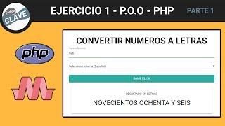 PHP - Convertir Numero a Letras del 0 al 1000 - POO - MVC - FACTORY (parte 1)