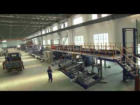 Installation and production of continuous sandwich panel production line