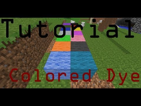 How To Make All Dye Colors Minecraft Tutorial Youtube