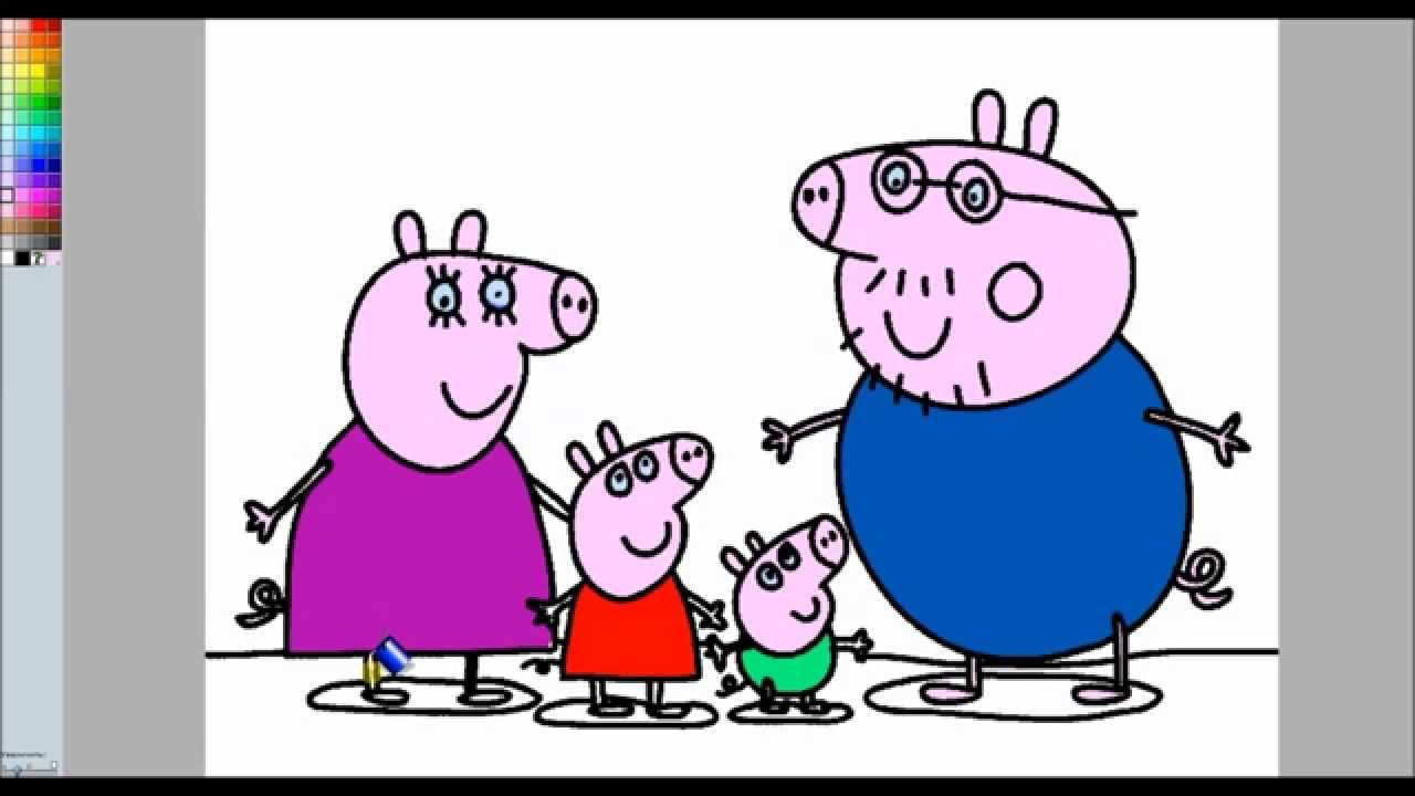 Peppa Pig Colouring Pages Online - Peppa Pig Family Colouring Book ...