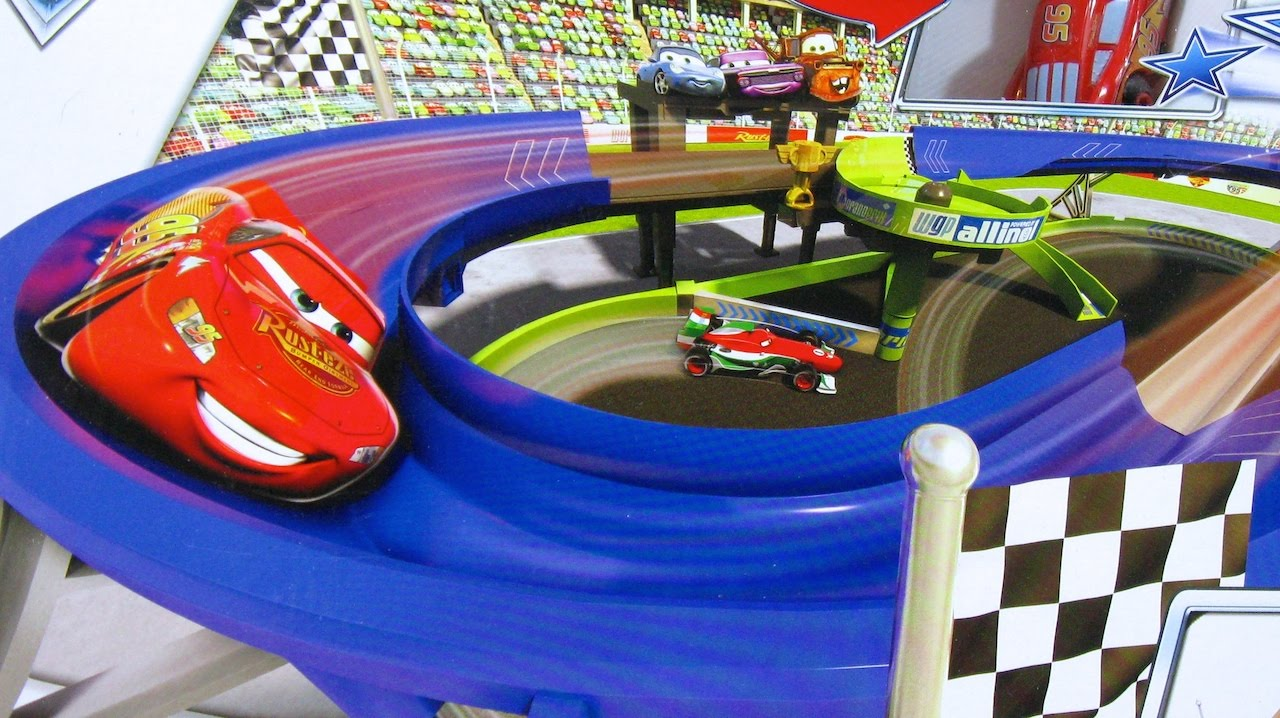 Disney pixar cars 2 superpista de carreras stunt racers double decker speedway juguetes de - Juguetes disney cars ...
