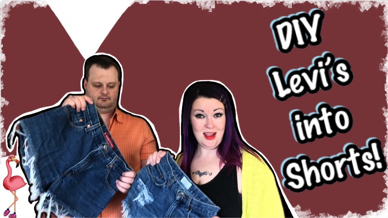 358cb32eeb2 DIY Levi's Shorts Tutorial How to Cut Jeans! Sell on Poshmark for PROFIT💰
