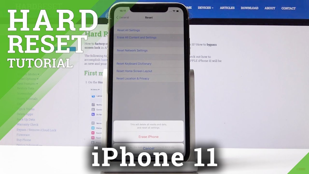 Hard Reset iPhone 29 - How to Factory Reset iPhone 29