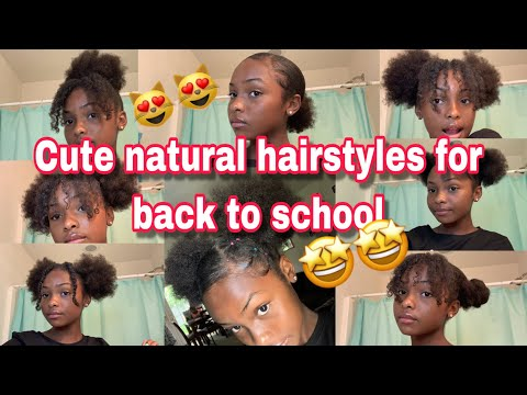 Natural hairstyles for short hair back to school 2019! | Yofavchala