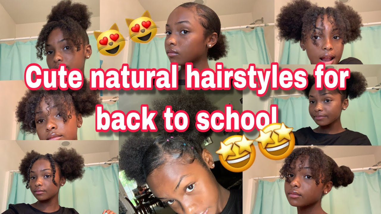 Natural Hairstyles For Short Hair Back To School 2019