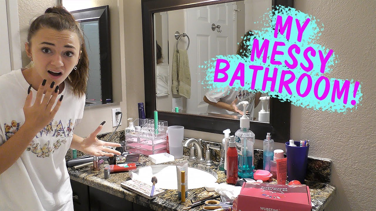 CLEAN WITH ME - MESSY BATHROOM ISSUES | Kayla Davis