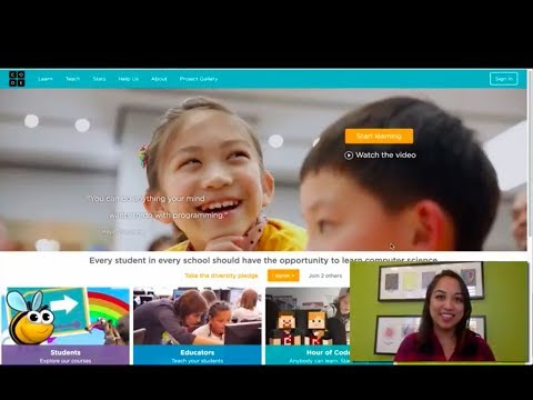 Overview of teacher homepage and navigating the Code.org site