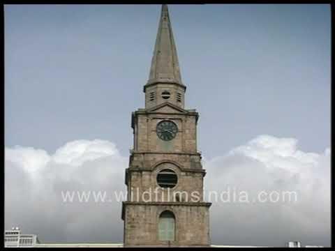 British built buildings in Calcutta | Chartered Bank, General Post Office, Clock spire at Raj Bhavan