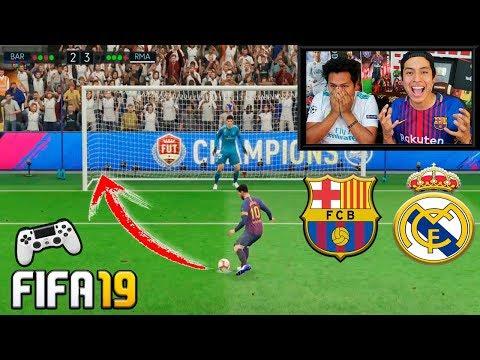 ¡¡RETO FIFA 19!! Penaltis con castigo HUMILLANTE 😱       BARÇA vs REAL MADRID