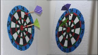 Homemade dart board from cardboard - want to play dart ?