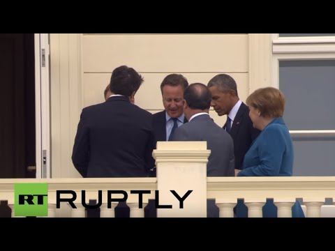 Germany: Merkel and Obama meet Hollande, Cameron, Renzi at Herrenhausen Castle