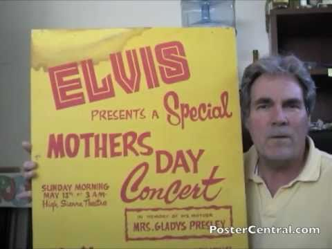 Elvis Presley Window Card 1970s Casino Concert Placard -- Lake Tahoe