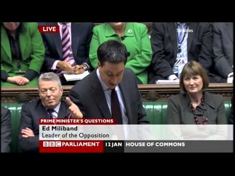"""Wallace & Gromit"" & ""Planet Vulcan"" jibes - David Cameron vs Ed Miliband (PMQs, 12.1.11)"