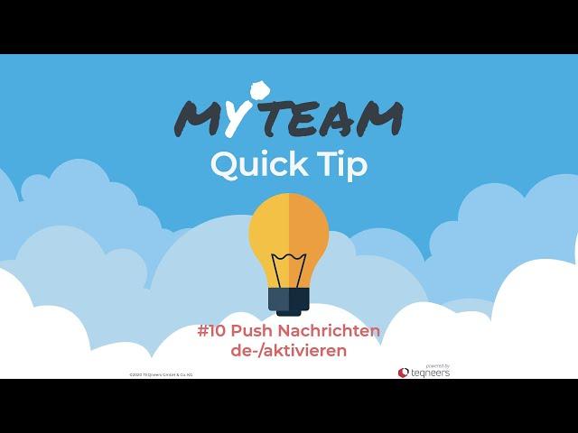 myteam Tip #10: Push Nachrichten de-/aktivieren