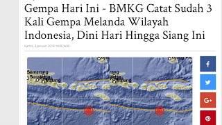GEMPA BUMI HARI INI!! BMKG Catat Sudah 3 Kali Gempa Melanda Wilayah Indonesia