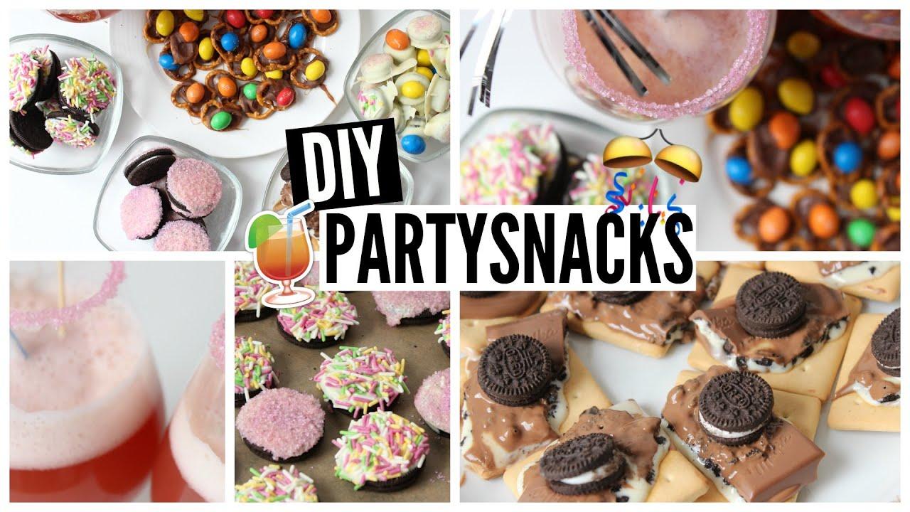 diy party snacks cheap easy youtube