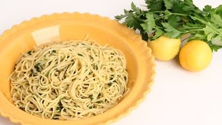 Lemon & Herb Spaghetti Recipe - Laura Vitale - Laura in the Kitchen Episode 912