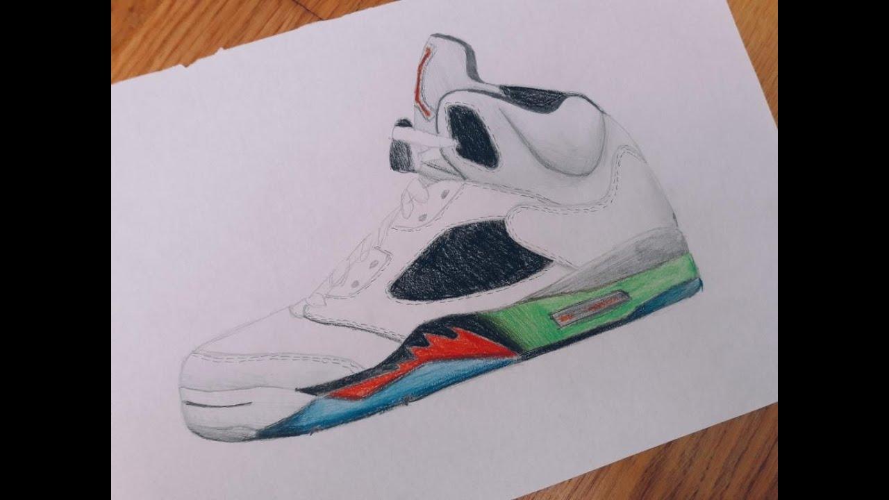 Shoe Drawings Of Jordans