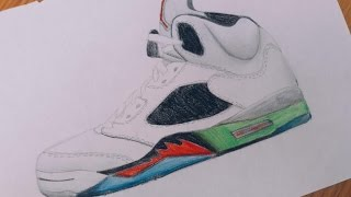 Air Jordan 5 drawing
