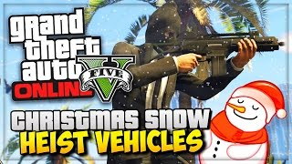 GTA 5 Online Christmas Snow DLC Release - GTA Online Heist Vehicles & Updates! - (GTA V Gameplay)