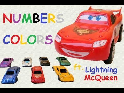 Learn Colors and 123's Lightning McQueen Disney Cars   ERIL kid TV   Video for Kids