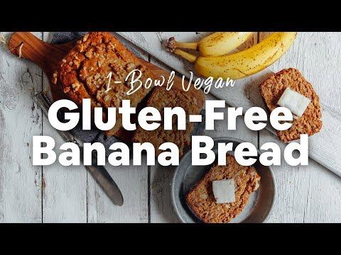 Gluten-Free One Bowl Blueberry Bread