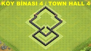 Clash of Clans - 4.Seviye Köy Binası Kupa koruma Klan Savaşı Düzeni (th4 trophy and clan wars base )